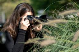 Fotokursteilnehmerin