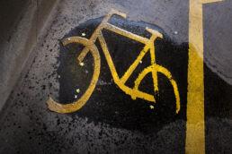 Fahrrad Bodenmarkierung