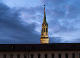 Turm der St.Laurenzen Kirche SG