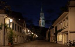 Nachtfotografie in der Zeughausgasse in St.Gallen