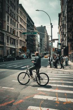 Bleecker Street NYC Cyclist