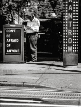 do not be afraid of anyone