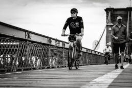 Cyclist - Brooklyn Bridge NYC